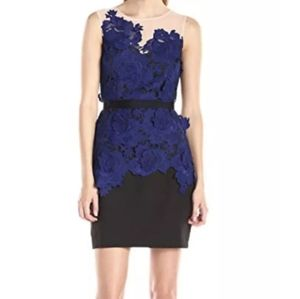 Adelyn Rae Floral Lace Peplum Dress Small